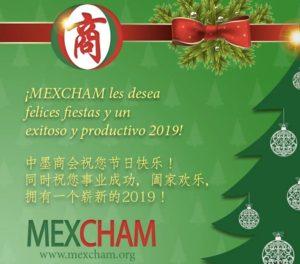 ¡Felices fiestas de parte del equipo de MEXCHAM!